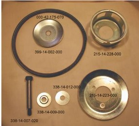 Parts of  Fan Pully Halves